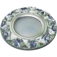 DLS-P123 стекло хром/прозр.фиолетовый, GU5.3, 10644
