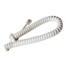 Шнур телефонный витой 2 метра белый (101-002)