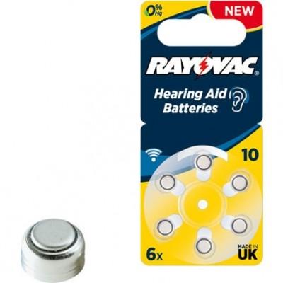 Батарейка  RAYOVAC ACOUSTIC SPECIAL 10 6*BL для слух.аппар.