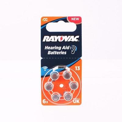 Батарейка  RAYOVAC ACOUSTIC SPECIAL 13 (G5) 6*BL для слух.аппар.