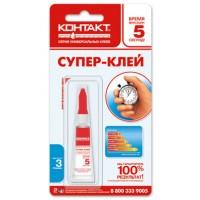 "Клей супер ""КОНТАКТ"" 3 г, 12*BL (12/432)"