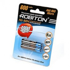 Аккумулятор Robiton R3  600 mAh 2*BL (2/50)