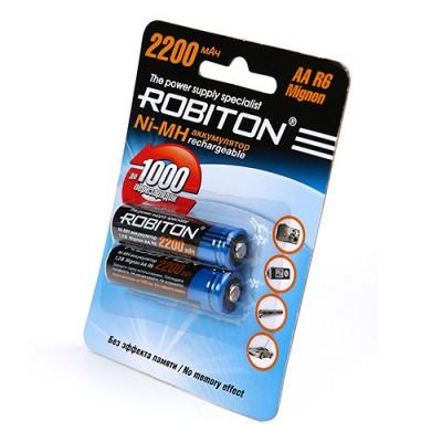 Аккумулятор Robiton R6 2200 mAh 2*BL (2/50)