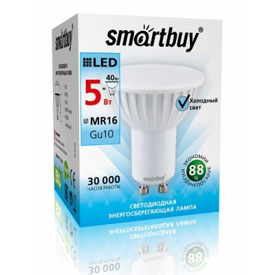 Лампа Smartbuy JCDRC LED (5W) 220V/4000К/GU10