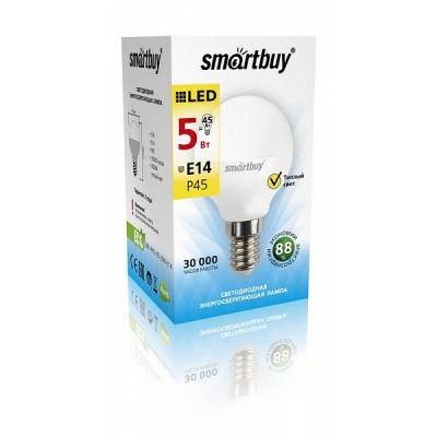 Лампа Smartbuy шар G45 LED (5W) 220V/3000К/E14