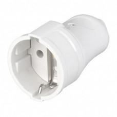 Гнездо штепсельное Smartbuy c/з евро, 16А, белое, SBE-16-S01-wz