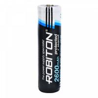 Аккумулятор  Robiton с защитой bulk LI 2.6/18650 (7/5A 3.6v 2600mah)