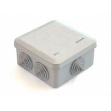 Коробка расп. ОП 100*100*50мм, квадрат, 6 вводов, GE41255 (1/10/100)