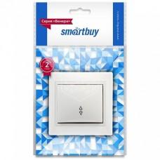 """Выключатель Smartbuy """"Венера"""" СУ 1кл., проходной, керамика, белый SBE-01W-10-SW12-0-с (1/10)"""
