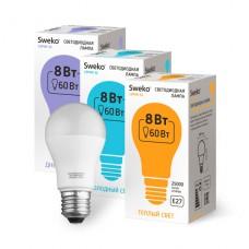 Лампа   Sweko A55 LED (8W) 220V/3000K/E27