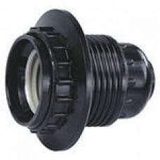 Патрон карболитовый E27 люстровый с приж. кольцом (10/180)