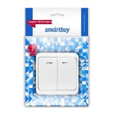 """Выключатель Smartbuy """"Юпитер"""" ОУ  2кл., с подсветкой, белый, SBE-03W-10-SW2-1"""