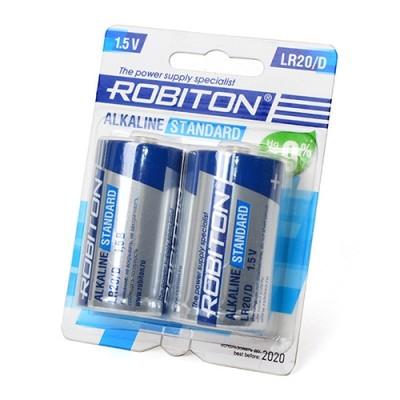 Батарейка  Robiton  STANDARD LR20 2*BL (2/20/240)