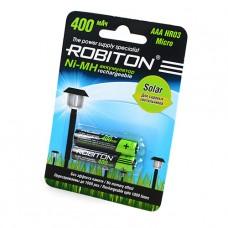 Аккумулятор Robiton R3  400 mAh SOLAR 2*BL (2/50)