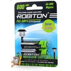 Аккумулятор Robiton R6  600 mAh SOLAR 2*BL