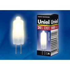 Лампа   Uniel  JCD 220V/20W/G4, матовая
