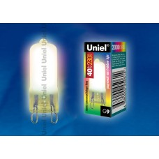 Лампа   Uniel  JCD 220V/40W/G9, мультиколор для хрустальных люстр