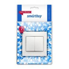 """Выключатель Smartbuy """"Венера"""" СУ 2кл, белый, SBE-01W-10-SW2-0 (1/10)"""