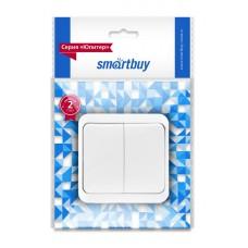 """Выключатель Smartbuy """"Юпитер"""" ОУ  2кл., белый, SBE-03W-10-SW2-0"""