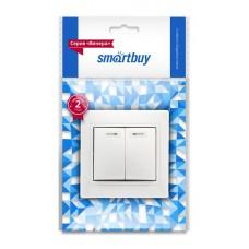 """Выключатель Smartbuy """"Венера"""" СУ 2кл., с подсветкой, белый, SBE-01W-10-SW2-1 (1/10)"""