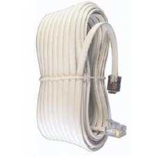 Шнур телефонный прямой  7 метров белый (100-007) (1/10)