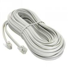 Шнур телефонный прямой 15 метров белый (100-015) (1/10)