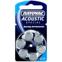 Батарейка RAYOVAC ACOUSTIC SPECIAL ZA 675 (G13) 6*BL для слуховых аппаратов