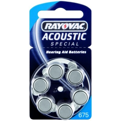 Батарейка  RAYOVAC ACOUSTIC SPECIAL 675 (G13) 6*BL