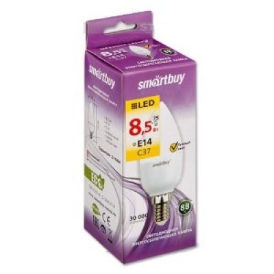 Лампа Smartbuy свеча С37 LED  (8,5W) 220V/3000К/Е14