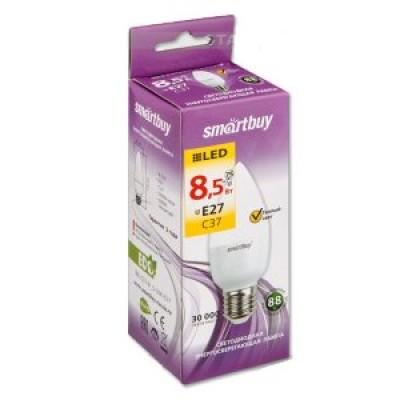 Лампа Smartbuy свеча С37 LED  (8,5W) 220V/3000К/Е27