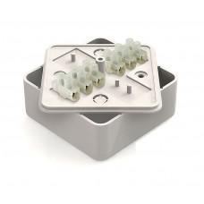 Коробка расп.  ОП 75*75*28мм, квадрат, 6 вводов, GE41216-01
