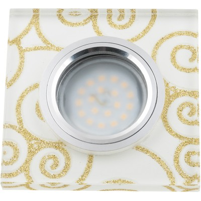 DLS-L207 стекло с золотом на белом фоне, с св.подс. 3Вт, GU5.3, UL- 00000382