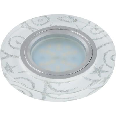 DLS-P202 стекло хром, отделка стекло с сереб. на бел.фоне GU5.3, 10126