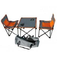 IRG-520 Стол складной с двумя стульями (в сумке) 46*46*40см и 36*36*58см