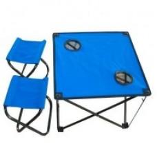 IRG-521 Стол складной с двумя табуретами 46*46*41см и 21*27*28см