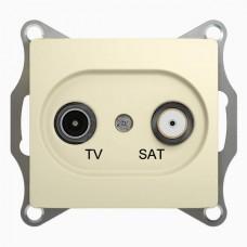 Розетка  TV/SAT Schneider Electric GLOSSA GSL000297 1-ая 1DB беж.