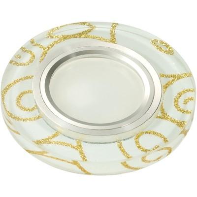 DLS-L206 стекло с золотом на белом фоне, с св.подс. 3Вт, GU5.3, UL- 00000381