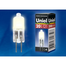 Лампа   Uniel  JC 12V/20W/G4, прозрачная