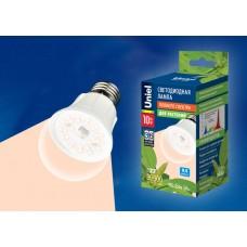 Лампа Uniel  А60 LED (10W) 220V/SPFR/E27, PLP01WH для растений, прозрачная