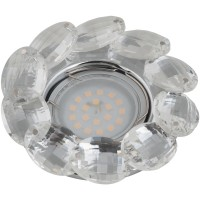 DLS-P114 стекло хром/прозр. отделка кристалл, GU5.3, 10547