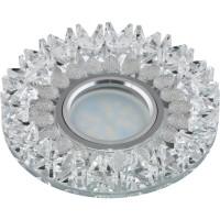 DLS-P101 стекло хром/прозрачный. GU5.3, 09982