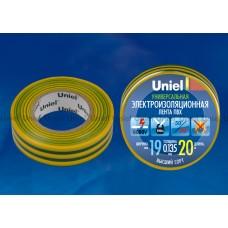 Изолента  Uniel 19/20 желто-зел (10)