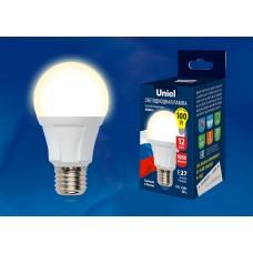 Лампа   Uniel A60 LED (12W) 220V/3000K/E27, 1050Лм, сделана в РОССИИ (1/100)
