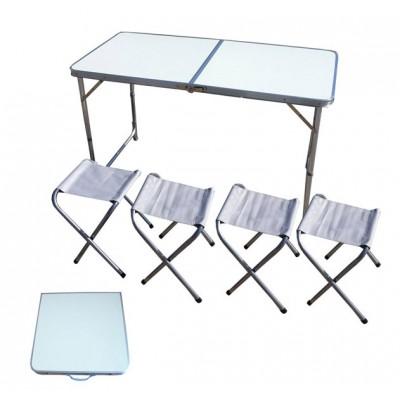 IRG-523 Стол складной и 4 табурета (120*60см и 24*32*35см)