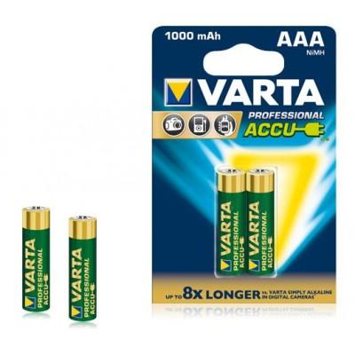 Аккумулятор  VARTA Professional Accu 2  R03 1000 mAh (2/20) (057