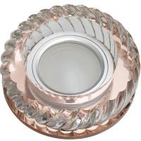 DLS-L123 стекло бронза/прозр., с св.подс. 3Вт, GU5.3, UL- 00000373