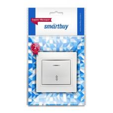 """Выключатель Smartbuy """"Венера"""" СУ 1кл., проходной с подсветкой, белый, SBE-01W-10-SW12-1 (1/10)"""