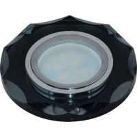 DLS-P105 стекло хром/черный. GU5.3, 09992
