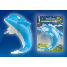 Ночник Uniel DTL-301 Дельфин, 4LED/0,5W, без выкл, голубой