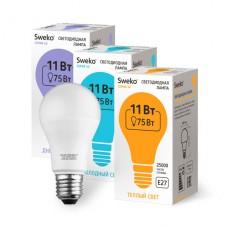 Лампа   Sweko A60 LED (11W) 220V/3000K/E27
